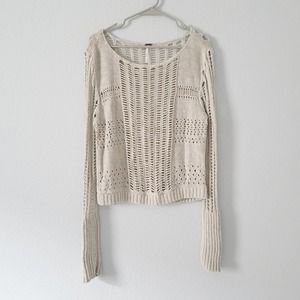 Free People Knitted See through Sweater